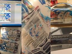 コンデレ技①透明なシートに印刷する方法