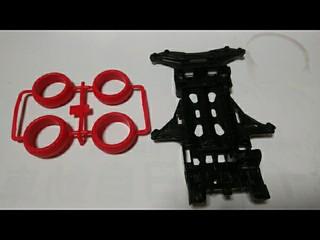 赤のバレルタイヤと黒のVS強化シャーシ
