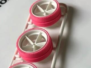 大径ピンク段付きペラタイヤ