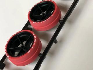 大径ハードレッド段付きペラタイヤ&ホイールJ-CUP2014