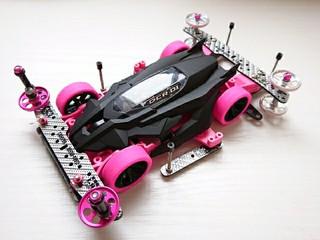 デクロス 黒ピンク