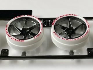 フルカウルミニ四駆25周年記念 ホワイト段付きペラタイヤ 製作