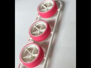 大径ピンク段付きペラタイヤ&グラスファイバーホイール
