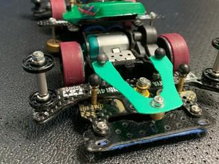 カーボンフロントワイドステーを使ったリアアンカー