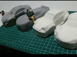 ミニ四駆ポリカボディ用、型作製中