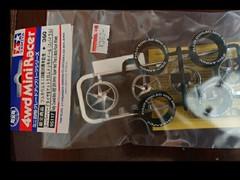 フルカウルミニ四駆25周年記念 スーパーハードタイヤ&マットクロムメッキホイール