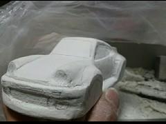 ミニ四駆ポリカボディ 911ブラックバード作製中