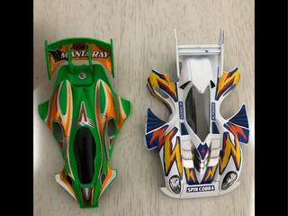 緑エアロマンタレイと白スピンコブラ!(「・ω・)「ガオー