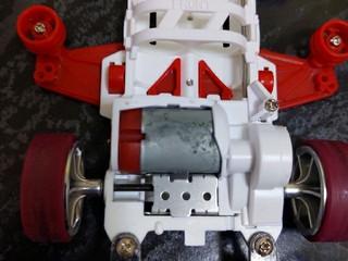 ハイパーダッシュモーター3とアルミモーターサポート