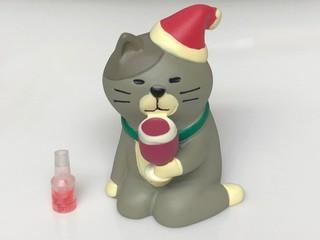 うっとりワイン猫サンタバージョン