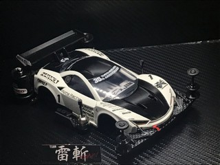 タミヤ 雷斬 GT3 シロクーロ 19''