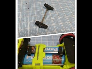 片軸用バッテリホルダー