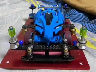 Blue avante race car