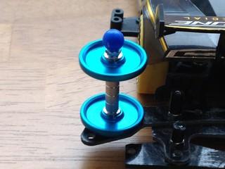 HG 19mmオールアルミベアリングローラー(ブルー)