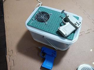 タミヤのリューターと自作 集塵機