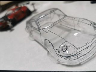 自作ポリカボディ S30Zクリアバージョン