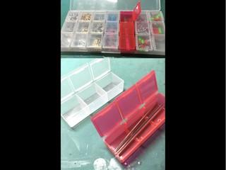 加工してシャフトが入った 山田科学 小物収納7Pケース