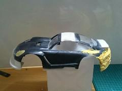 初めてのパテ。911 GT3R