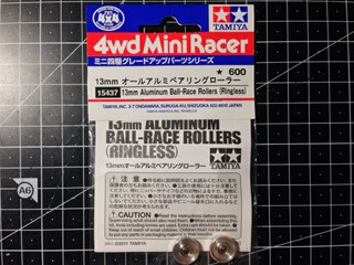 15437 13mm Aluminum Ball-Race Rollers