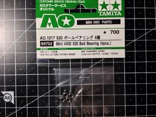 94752 Mini 4WD 520 Ball Bearing