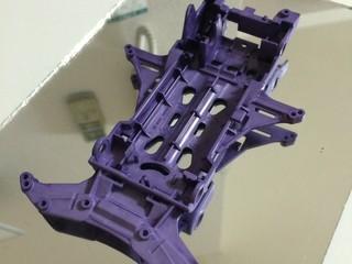強化 白VS  紫に染めてみました!